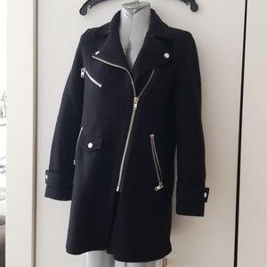 Zara small black moto jacket